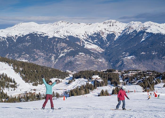 Snowboarders in Meribel